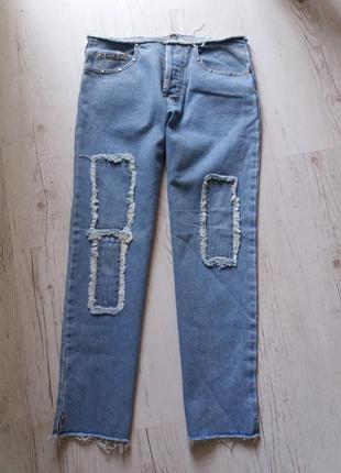 Укороченые джинсы без пояса