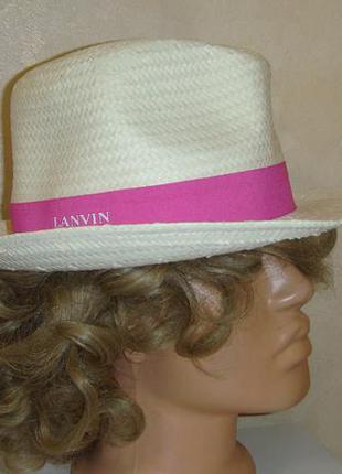 Соломенная шляпа lanvin