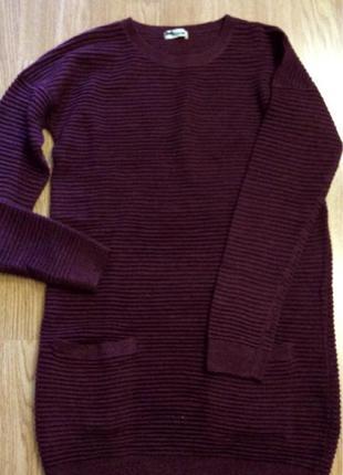 Стильное фирменное платье tezenis,теплое вязаное платье,платьице+подарок