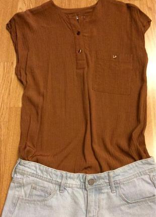 Фирменная блуза из натуральной ткани spengler mode germany,базовая блузочка+подарок