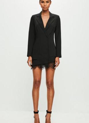 Супер модный тренд! платье пиджак блейзер с кружевом от missguided новое