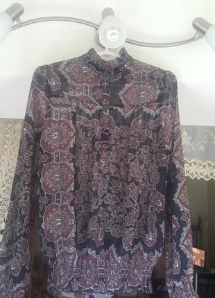 Интересная cтильная легкая летняя блузка с восточным  рисунком avant-premiere