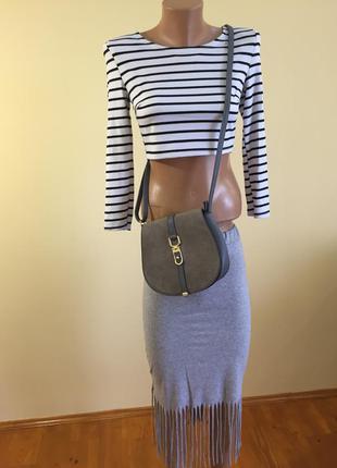><мода и стиль<>замшевая сумка><2 фото
