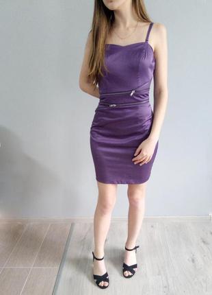 Коктельное вечернее шелковое платье