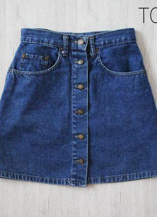 Юбка джинсовая на пуговицах topshop