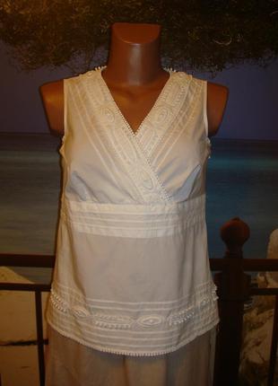 Блуза с вышивкой р.8 talbots