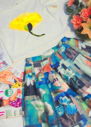 Шикарный костюм, топ + юбка миди