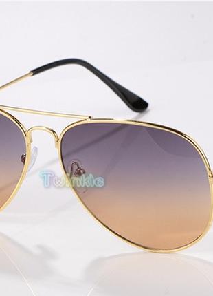 Шикарные очки градиентные с переливом