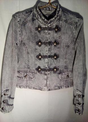 Джинсовый пиджак варенка супер дизайна denim co