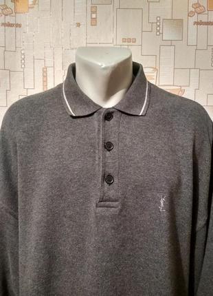 Джемпер. рубашка теплая yves saint laurent оригинал p-p xxl