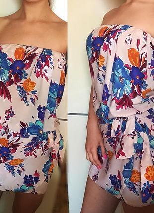 Итальянское платье, платье с цветочным принтом