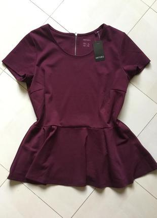 Блуза с баской размер - 16, наш размер - 50