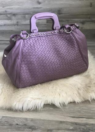 Шикарная огромная сумка из натуральной кожи