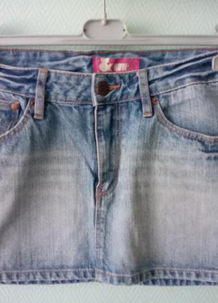 Джинсовая мини юбка h&m