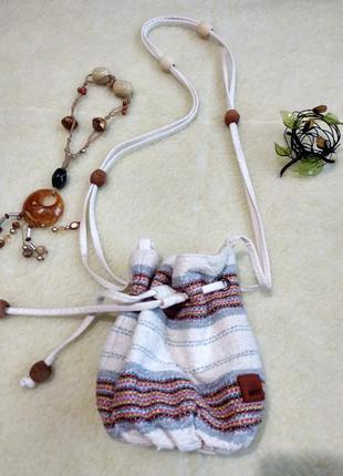 Текстильная летняя сумка roxy (оригинал)