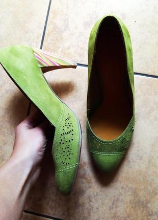 Летние туфли из искусственной замши