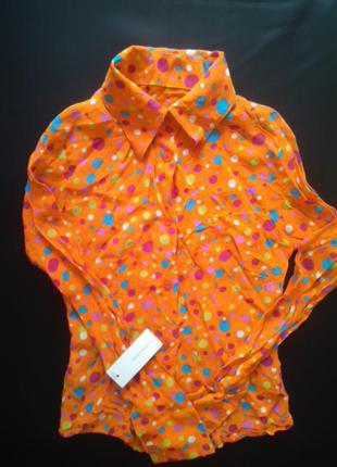 Рубашка-блуза в горошек