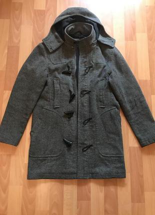 Стильное качественное удлинённое мужское пальто zara