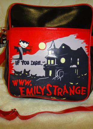 Стильный портфель сумка рюкзак детский emily strange