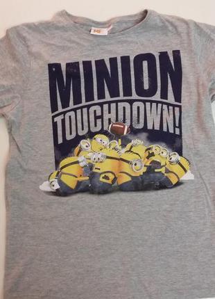 Классная футболка с миньонами для подростка 158 - 168см