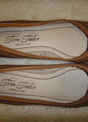 Туфли, балетки, мокасины tom tailor р. 36 стелька 23 оригинал  германия