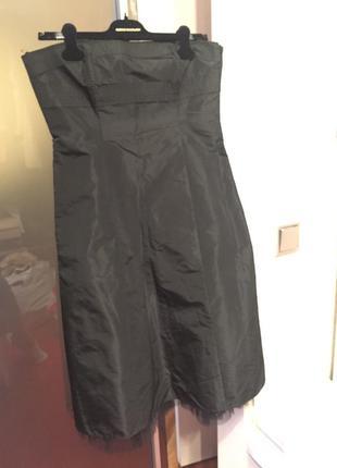 Шелковое корсетное платье list