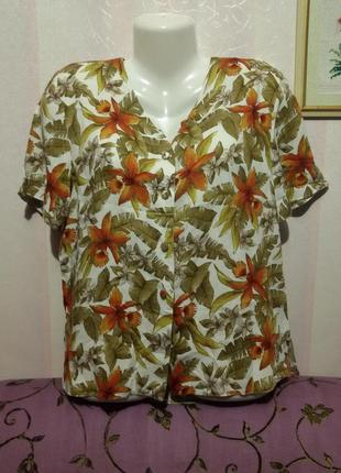 Блуза вискозная  (пог 55 см)