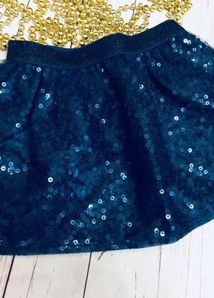 Пышная нарядная юбка от crazy8 размер 3т с пайетками