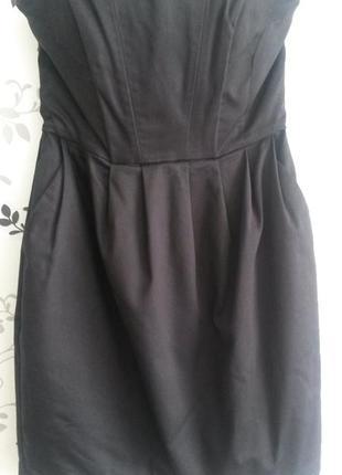 Платье короткое, чёрное h&m