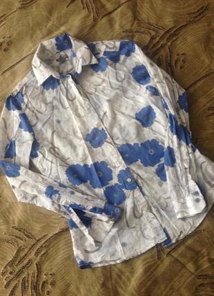 Рубашка с цветочным принтом h&m