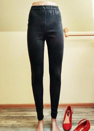 Чёрные джеггинсы, джинсы yes yes 8 р-р, s,