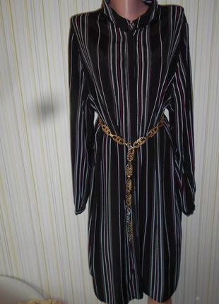 #платье-рубашка 100% вискоза #new look#большой размер 18 # марокко#