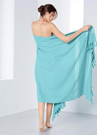 Шикарное большое махровое полотенце качество 100% орг.хлопок tchibo 100х200 см