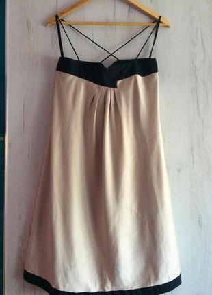 Нежное шелковое платье в бельевом стиле от испанского бренда vero moda