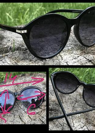 Стильные черные очки овальной формы