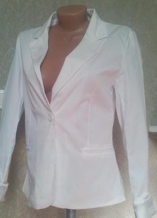 Пиджак*жакет классический белый!