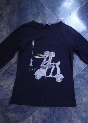 Трикотажная кофточка, футболка с длинным рукавом. 4-5 лет