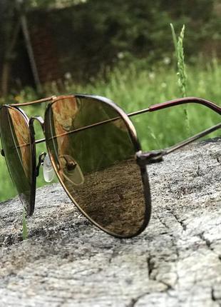 Стильные очки капли коричневые