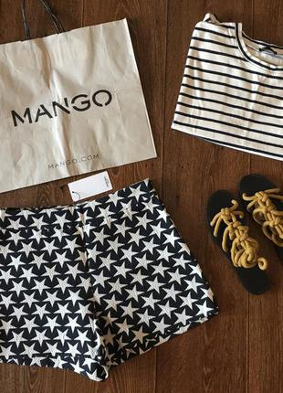 Новые шорты mango с узором в звезды