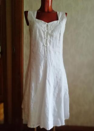 Стильное летнее платье, лен 100%