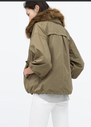 Шикарная куртка/парка/ветровка zara woman