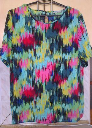 Фирменная блуза, дизайнерская расцветка, можно в офис