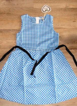 Сарафан-платье с поясом для девочек.