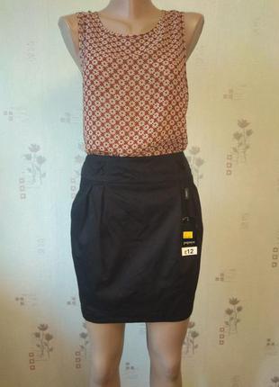 Классная черная короткая юбка papaya юбка мини papaya