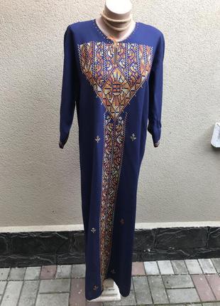 Восточное платье,туника разрезы по боку,вышивка,эксклюзив,ручная работа,этно стиль