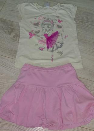Летний костюм фламинго 110-116см