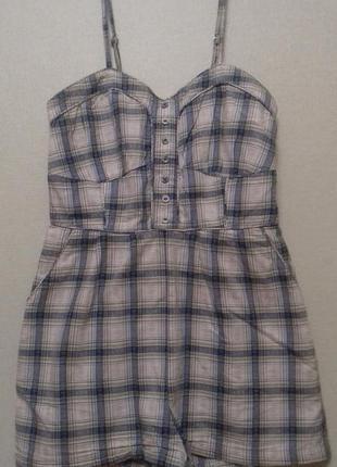 Комбинезон шорты хлопок miss selfridge  размер 10