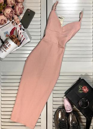 🌿 пудровое, фактурное платье футляр от miss selfridge