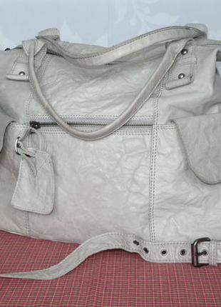 Topshop кожаная вместительная сумка длинная и короткие ручки