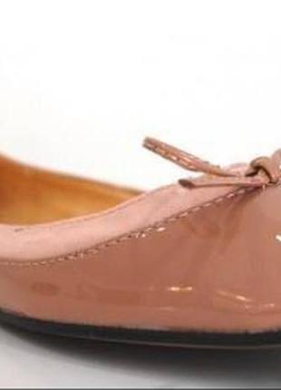 Лаковые кожаные балетки р.36-37